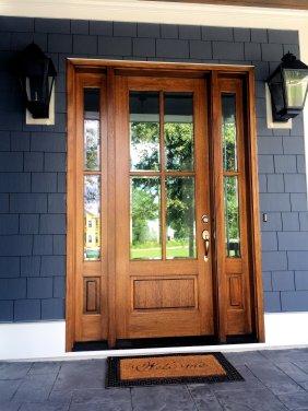 Autumn Hall example home front door