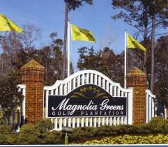 Magnolia Greens entrance sign