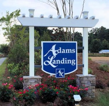 Adams Landing Entrance Sign