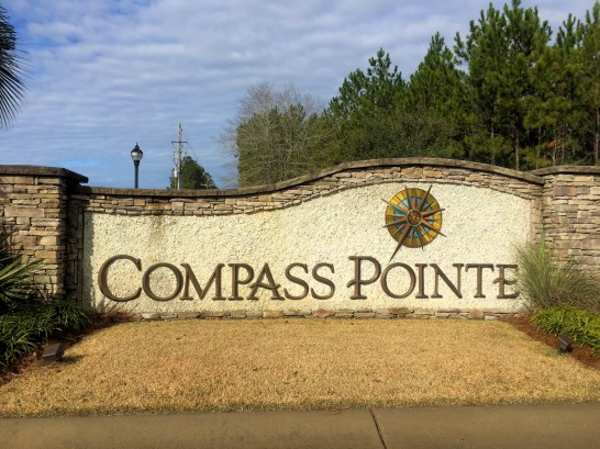 Compass Pointe - Entrance Sign