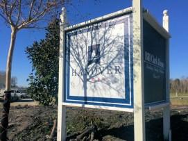 Hanover Lakes Entrance Sign
