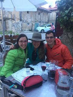 My new Pilgrim friends from north of Barcelona. with Esther Chicón Lázaro and Xavi Leiva Soler.