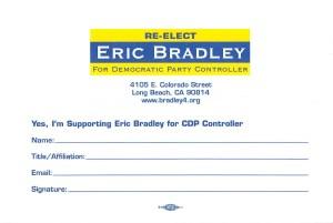 Bradley Endorsement Card