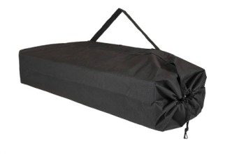 Black bag for camping cot