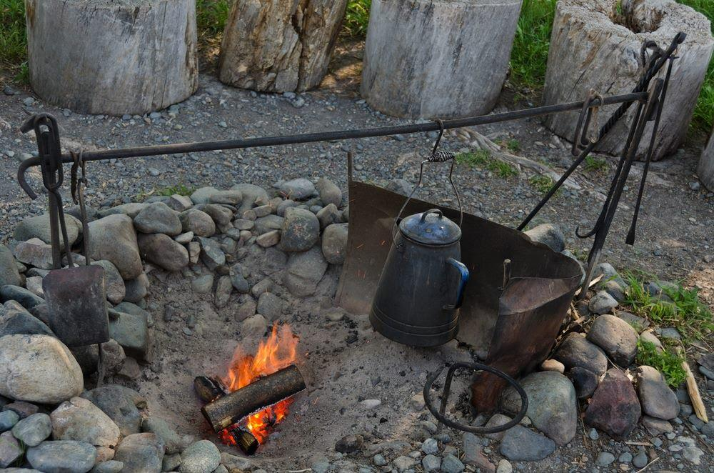 Campfire Cooking Equipment Open Fire