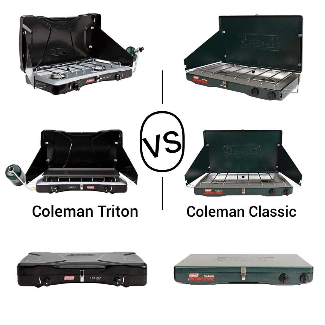 Coleman classic vs triton propane stove