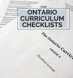 Ontario Curriculum Checklists for Grades 1 to 8 [ 1500 x 1000 Pixel ]