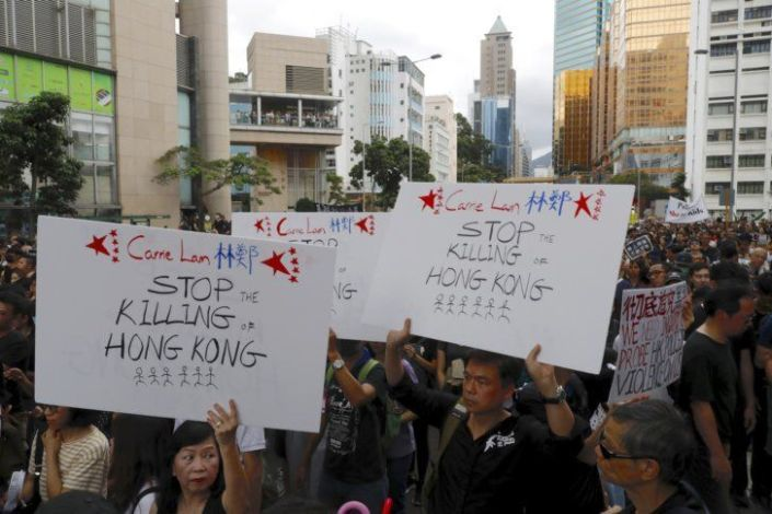 Hong Kong leader says extradition bill is 'dead'