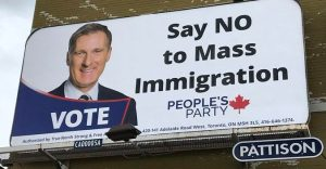 Anti-immigration billboard featuring Maxime Bernier will be taken down, company says