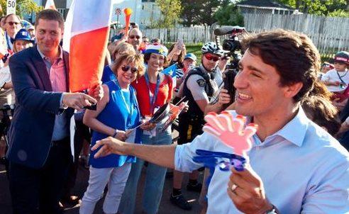 Trudeau, Scheer Had Awkward Exchange Celebrating National Acadian Day In New Brunswick