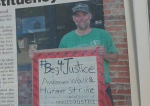 Sign the petition: Westlock, Alberta man protests for justice in front of MLAs constituency office