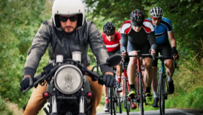 DISCLAIMER: THIS IS ONLY A JOKE … Motorcyclist Who Identifies As Bicyclist Sets Cycling World Record