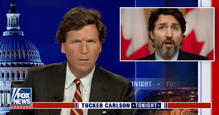 Tucker Carlson slams Trudeau's vaccine statements