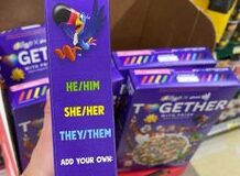 Kelloggs Launches Gay Pride Cereal That Encourages Buyer to Choose Characters' Pronouns