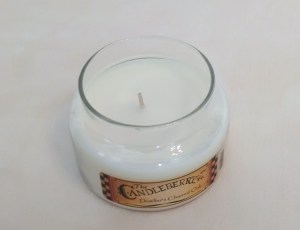 Candleberry Distiller's Charred Oak candle unlit