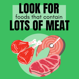 Dogs naturally have a preference towards meat based products - so our ideal diet for a picky pup would be one with a high meat content.