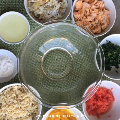 Ingredients in diy fish dog food recipe