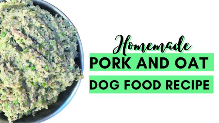 Homemade Pork and Oat Dog Food Recipe