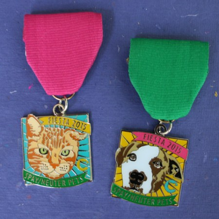 """spay/neuter pets"" cat and dog fiesta medals 2015 san antonio texas"