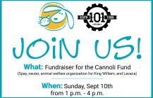 Fundraiser at Southtown 101 on Sunday, Sept 10