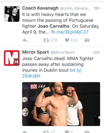 News quickly spread of the fighters death