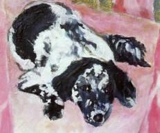 dog-paintings-black-white-pink