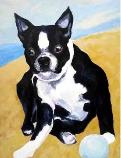dog-paintings-boston-terrier