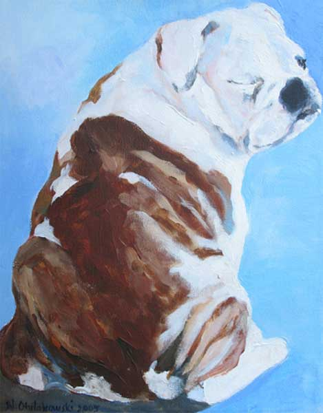 dog-paintings-english-bulldog