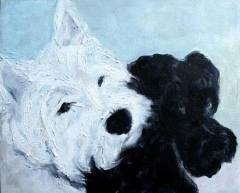 dog-paintings-westie-schnauzer