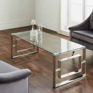 Milano Silver Plated Coffee Table