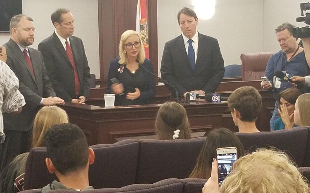 Senate President says he supports the idea of arming teachers, but no assault gun ban