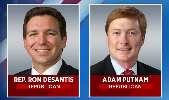 Putnam, DeSantis come out swinging in Wednesday night's hotly contested Republican gubernatorial debate
