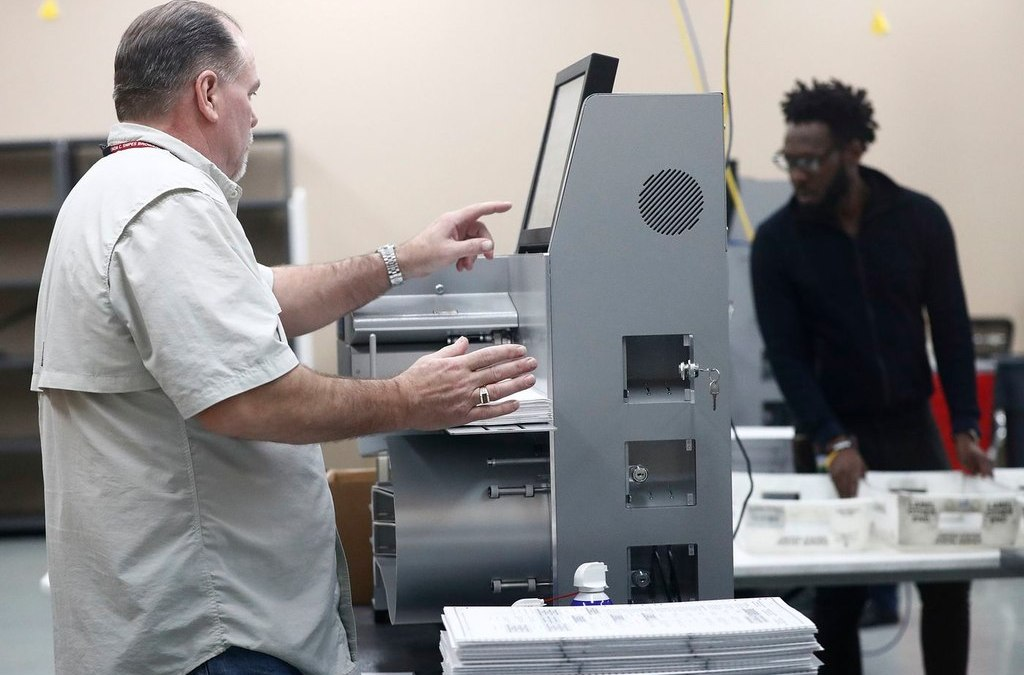 Vote counting equipment problems threaten Palm Beach County's machine recount