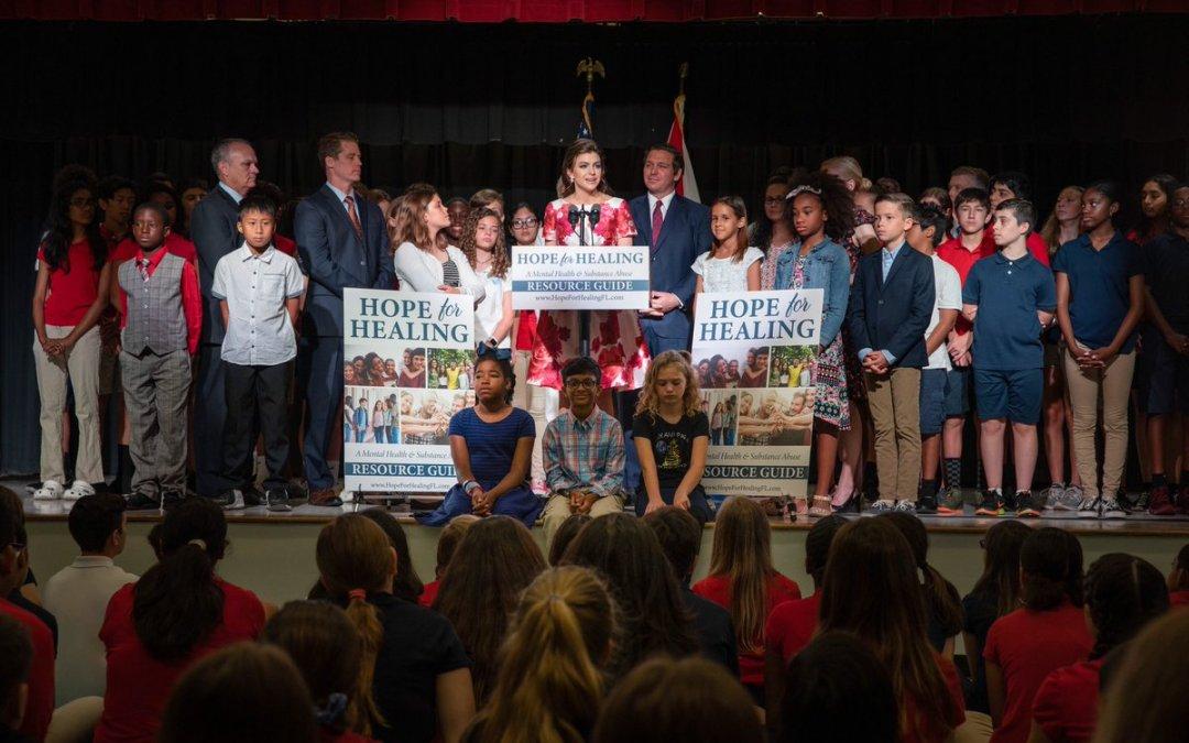 Florida First Lady Casey DeSantis kicks off major anti-substance abuse effort