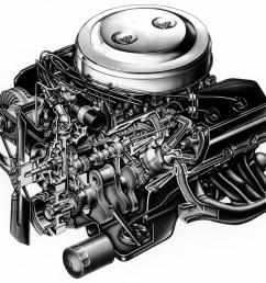 1966 426 hemi cutaway illustration [ 1000 x 859 Pixel ]