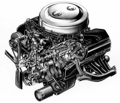 small resolution of 1966 426 hemi cutaway illustration