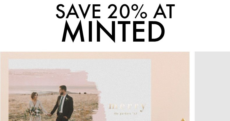 Deal Alert – Save Up to 20% at Minted for the Holidays