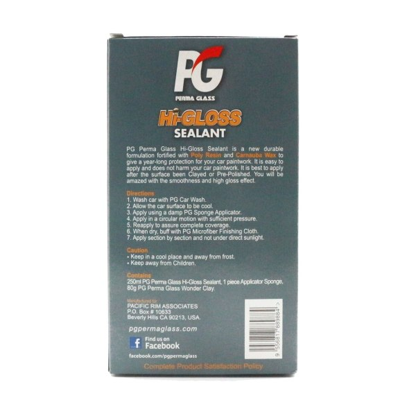 PG Perma Glass Hi Gloss Sealant for Car Paint