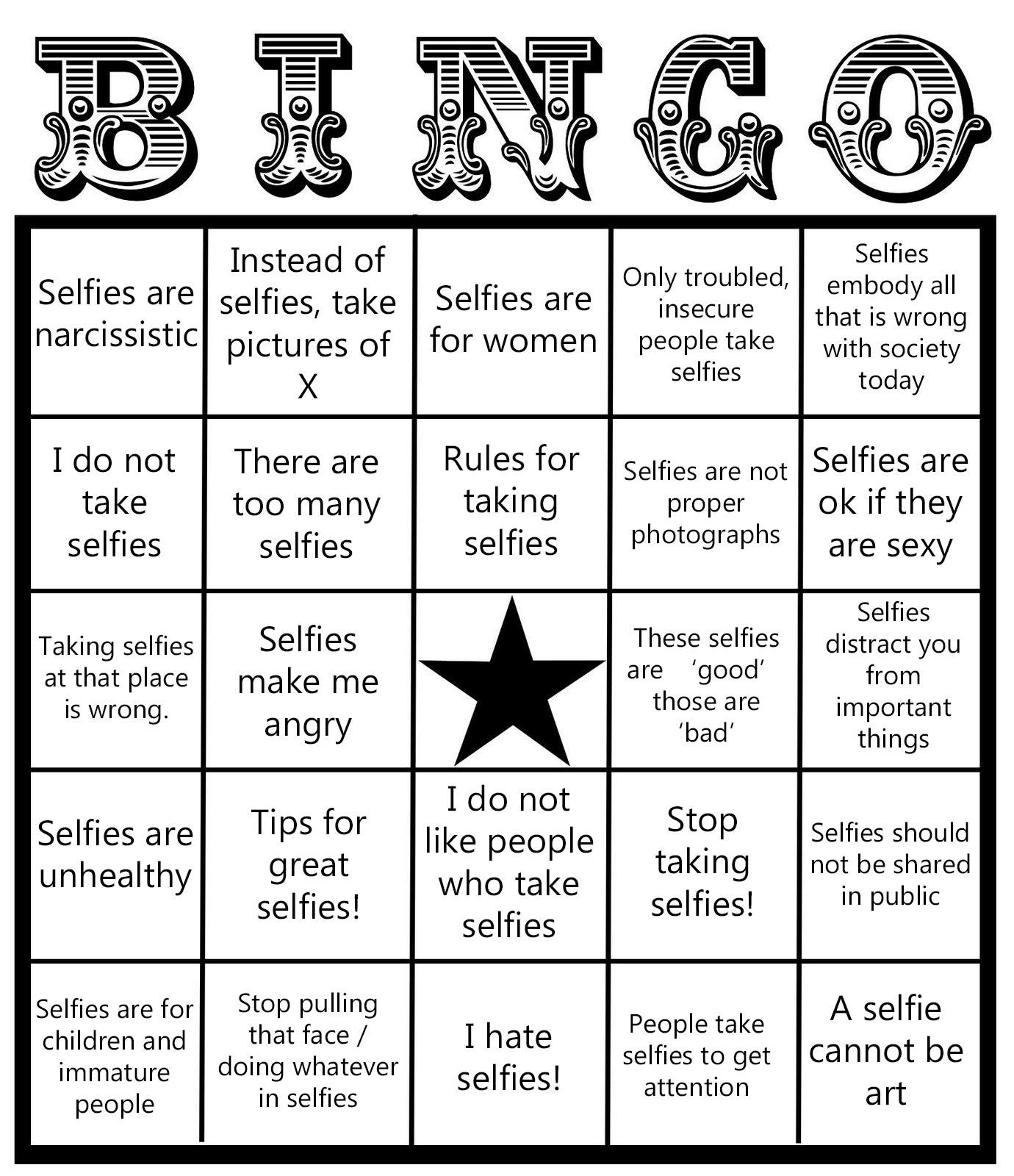 Selfie Bingo