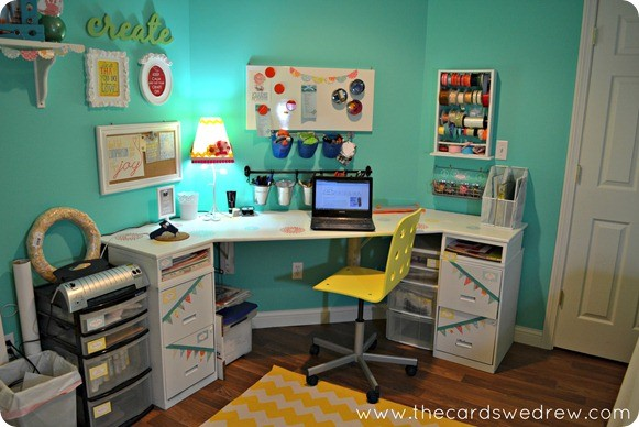 Basement Craft Room With Peg Board
