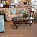 Teal and tan living room set