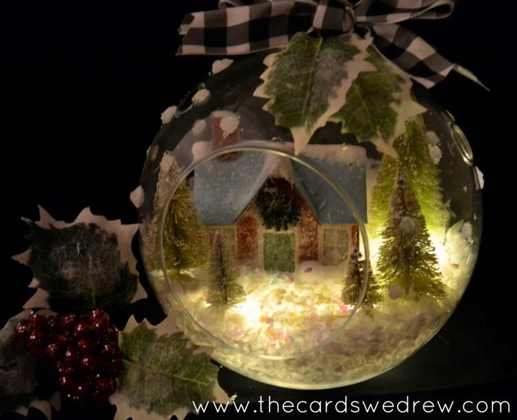 lit up christmas terrarium