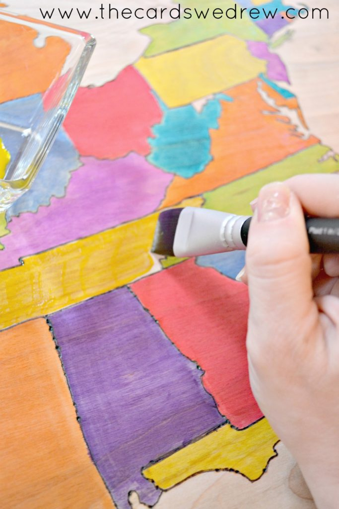 DIY Ultra Dye painted map tutorial