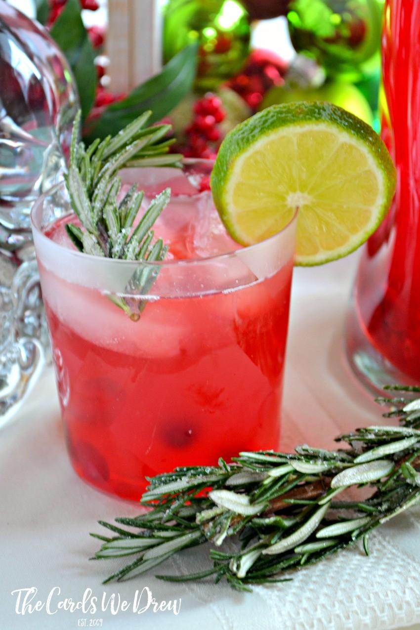 Cranberry Lime Vodka Christmas Spritzer The Cards We Drew