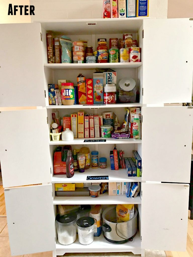free standing kitchen pantry cabinet kohler sinks organization tips - the cards we drew