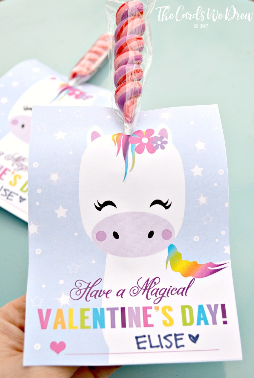 Magical Unicorn Valentine  The Cards We Drew
