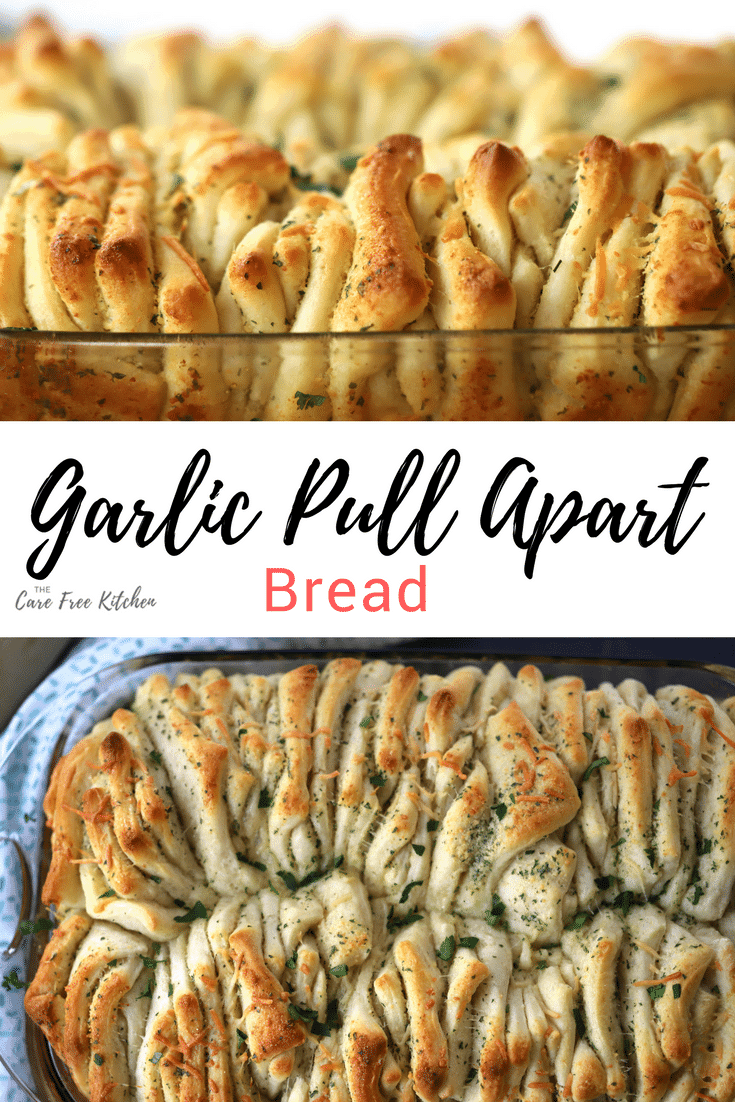 Garlic Pull Apart Bread --Easy and delicious side. Perfect for meal! thecarefreekitchen.com