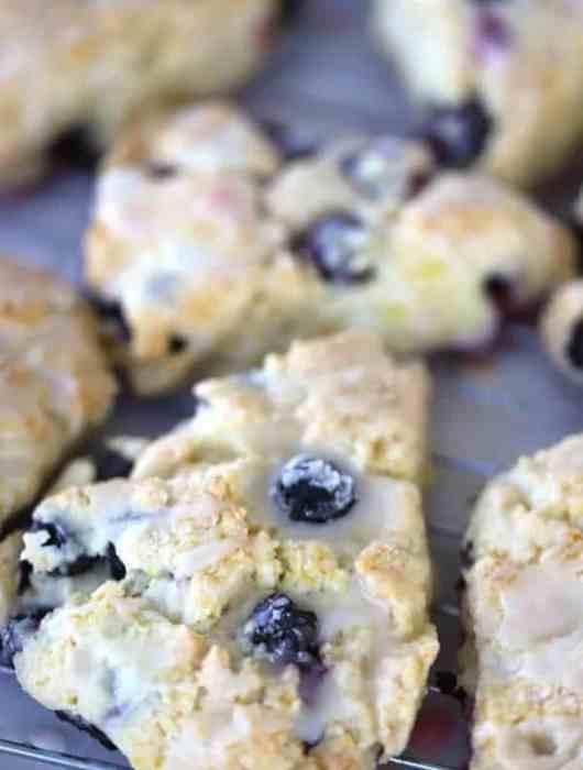 Lemon Blueberry scone with lemon glaze