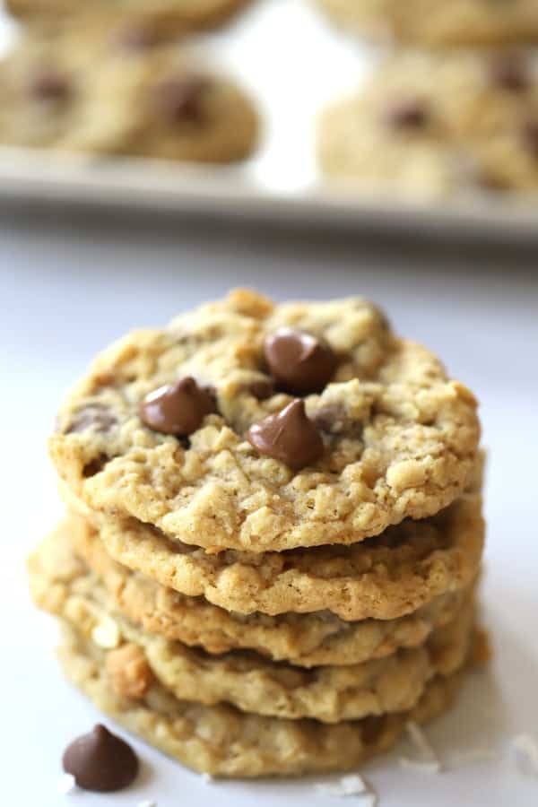 Chocolate Chip Coconut Cookie, the best oatmeal chocolate chip cookie recipe!