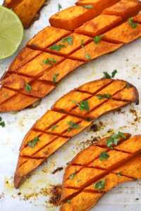 Chipotle and Lime Roasted Sweet potato recipe